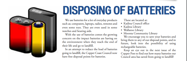 Disposing of Batteries