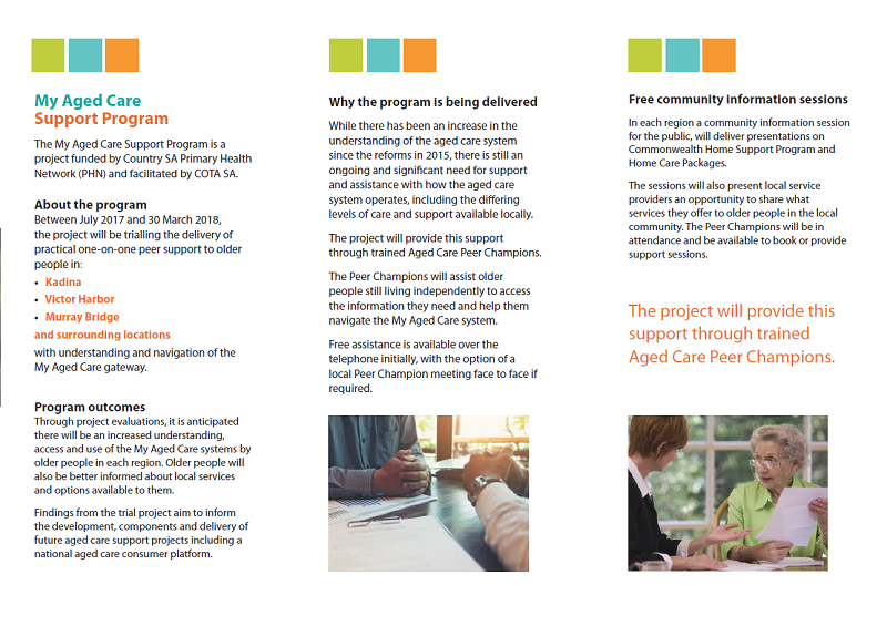 My Aged Care Local Support Program Leaflet Page 2