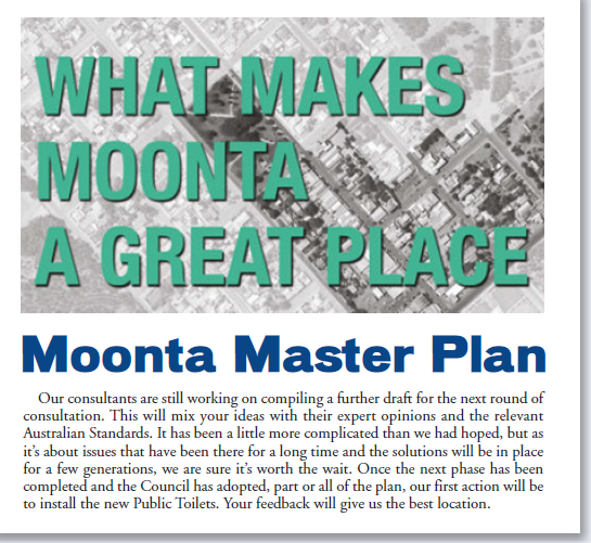 Moonta Masterplan April 2018 Update
