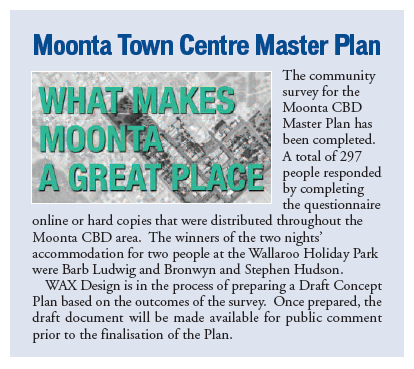 Moonta Masterplan - October Newsletter