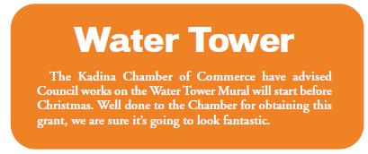 Kadina Water Tower October 2018 Newsletter