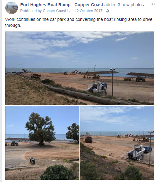 Pt Hughes Boat Ramp Project Update - 12th October 2017