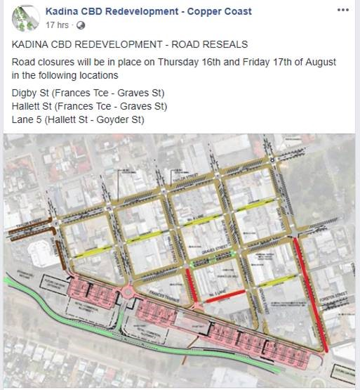 Kadina CBD Upgrade Update 14th August