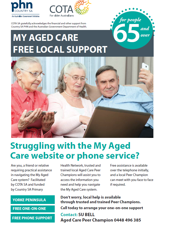 My Aged Care - Free Local Support