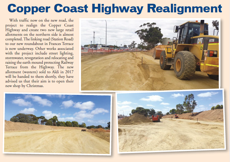 CC Highway Realignment April 2018 Newsletter