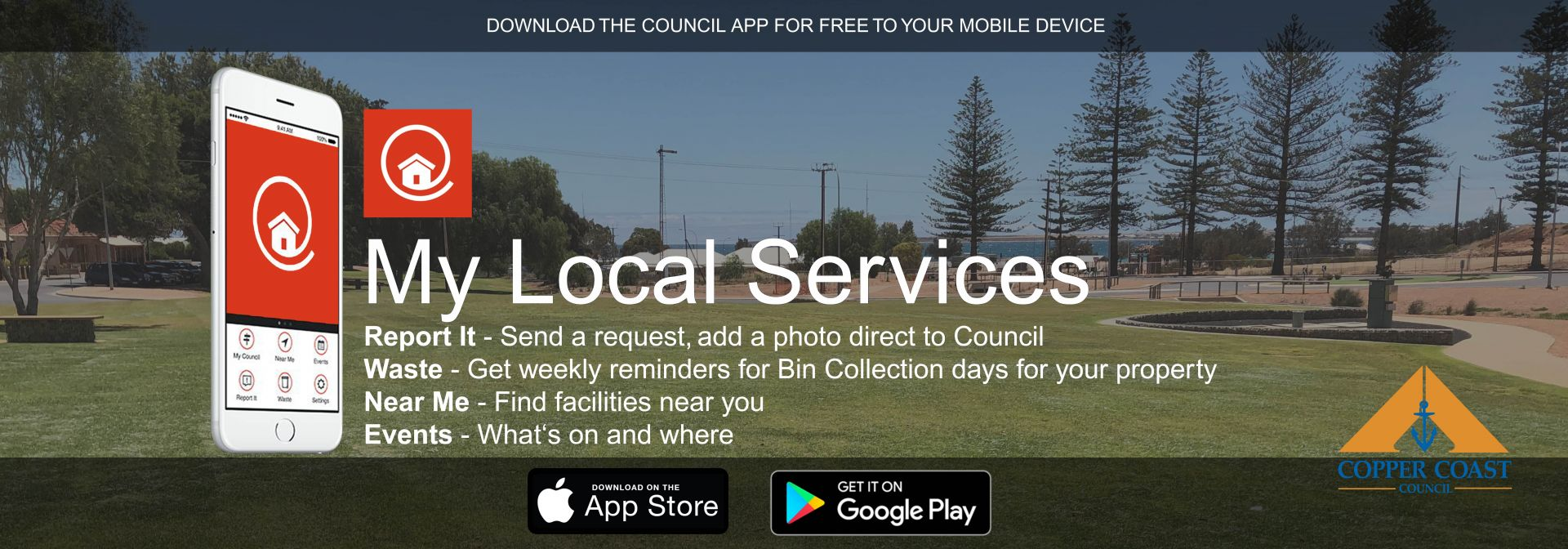 My Local Services App, council information on your phone